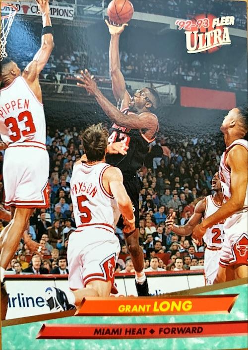 NBAカード 92-93FLEER Grant Long #100 HEAT
