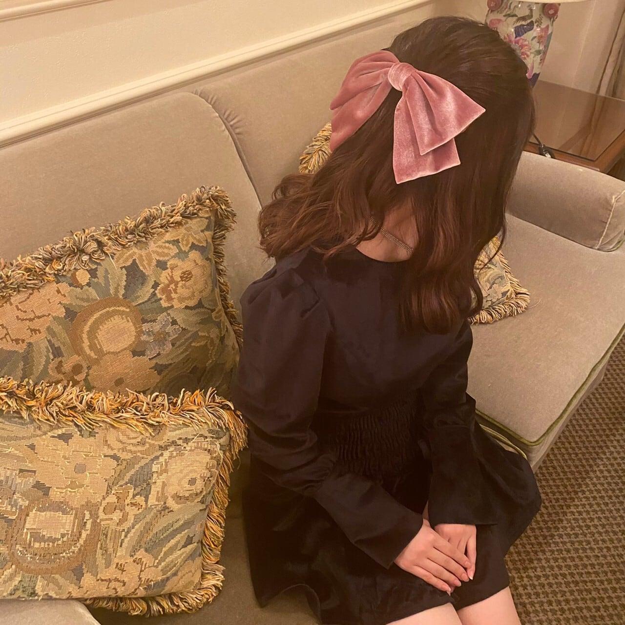 【ayuna select】velour frill mini onepiece
