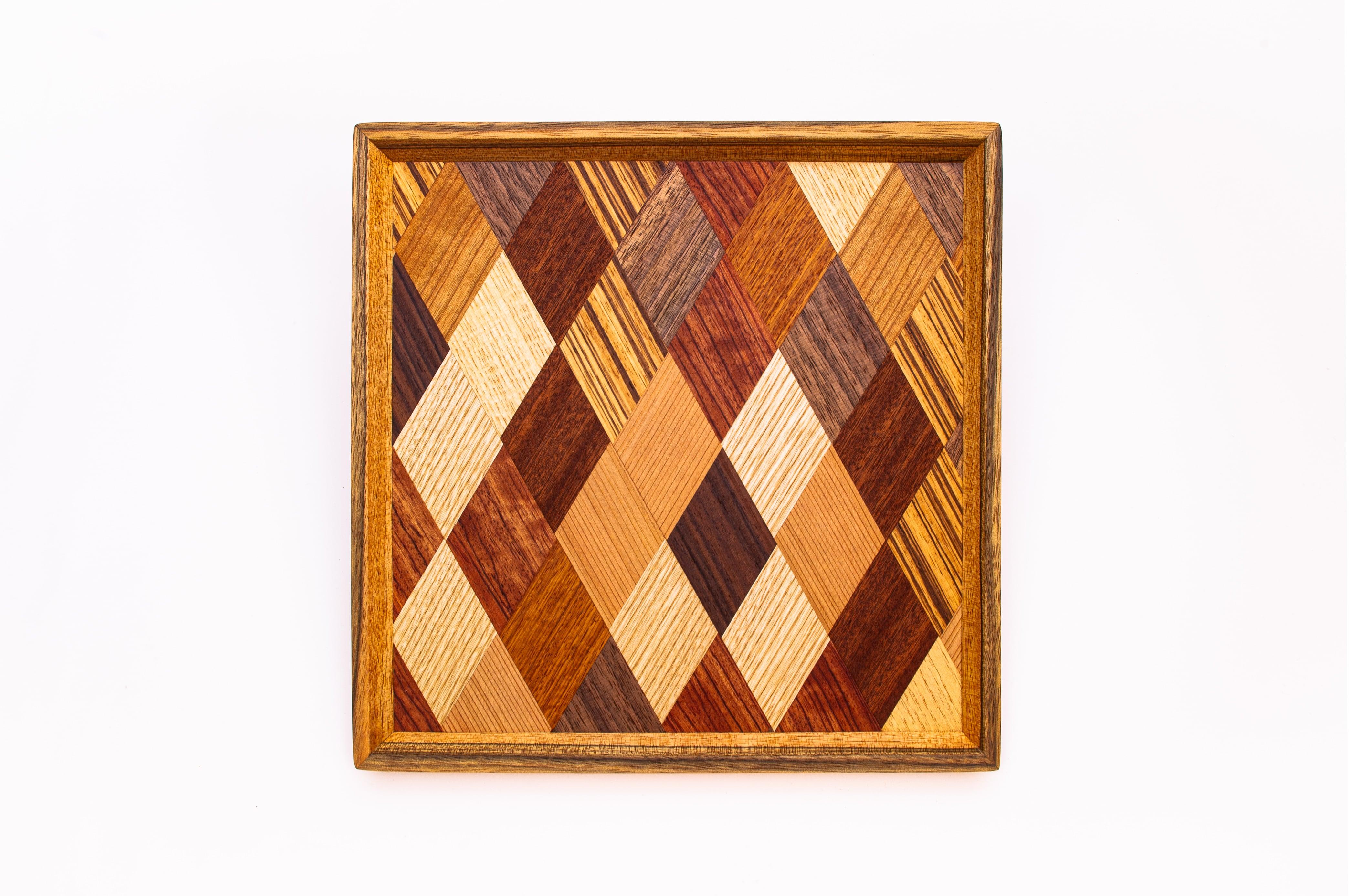 菱形模様 正方形のトレー 0321