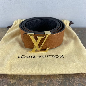 .LOUIS VUITTON M9151 REVERSIVLE LEATHER BELT MADE IN SPAIN/ルイヴィトンサンチュールイニシアルリバーシブルレザーベルト2000000054537