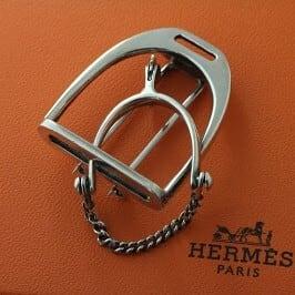 HERMES Silver Brooch  エルメス シルバーブローチ