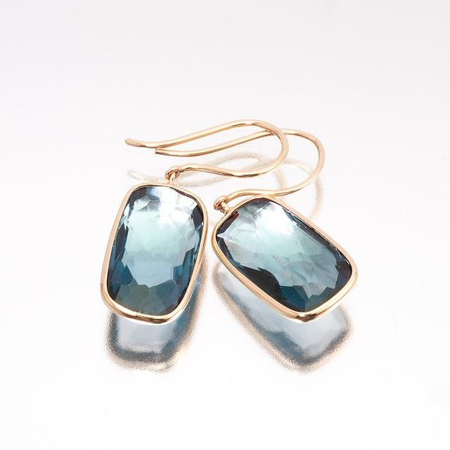 Frame earrings / London blue topaz