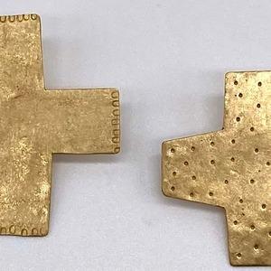 cross pin L / brass