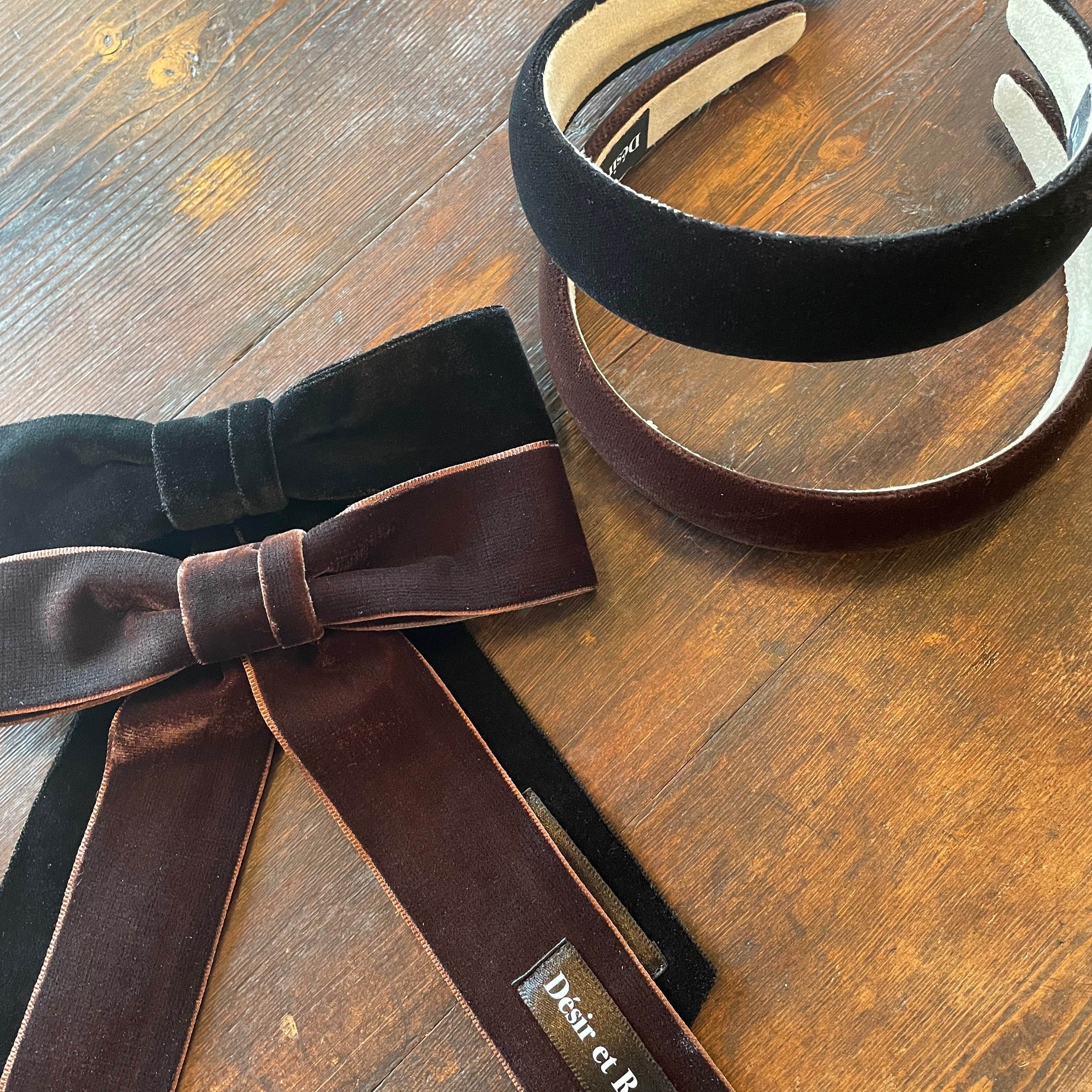 【予約】Désir original velour ribbon valletta
