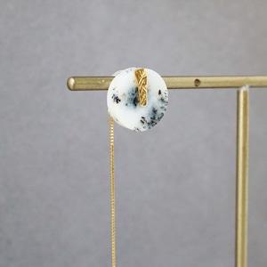 Agate Pierced Earring (Round)