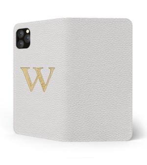 iPhone Premium Shrink Leather Case (Milk White) : Book cover Type