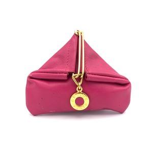 CELINE セリーヌ 馬車 トライアングル コインケース 財布 ピンク vintage ヴィンテージ オールドセリーヌ Accessories fh3u5p