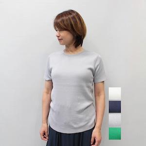 LILLY LYNQUE(リリーリン) ミラノリブ シルクニットTシャツ 2021秋冬新作 [送料無料]