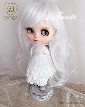 プリンセスシフォン[12inch 髪ありブライス ]ピュアホワイト  DWL009-A005-12in