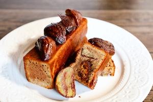 栗の渋皮煮とプラリネのパウンドケーキ