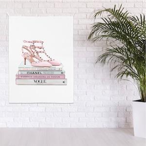 heel illustration fabric poster A 3size / ブランド イラスト ファブリックポスター 韓国
