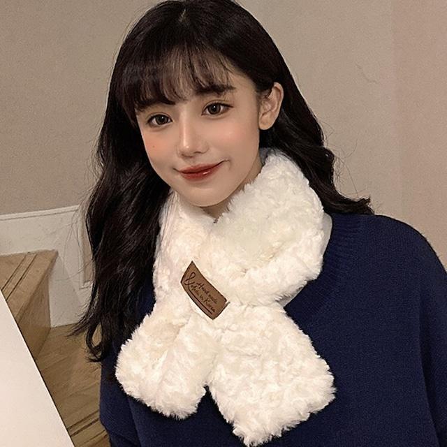 【小物】韓国系キュート合わせやすい厚く暖かい毛深いマフラー42919535