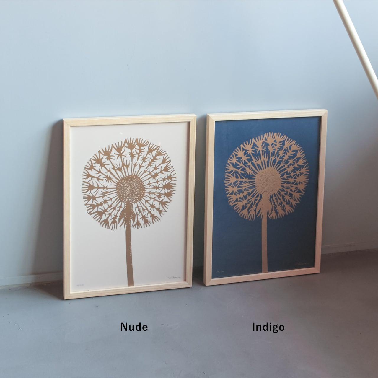 Monika Petersen  Lino Print ポスター Gold Dandelion フレームセット