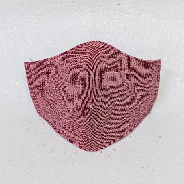 モダン和紙織りマスク クラシック レッド(赤)