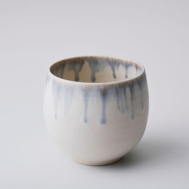 """京焼カップ「クリーム釉彩」 Kyo-ware cup""""Cream YUSAI"""""""