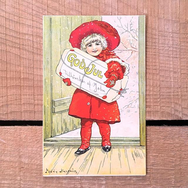 クリスマスカード「Jenny Nyström(イェニー・ニィストルム)」《200321-01》
