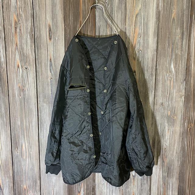 [used]military liner black jacket