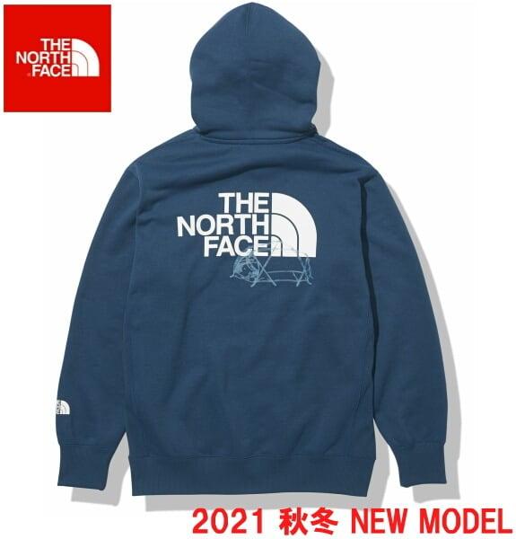 ノースフェイス パーカー スウェット プルオーバー パーカー THE NORTH FACE バックハーフドームフーディ NT62135 モントレーブルー