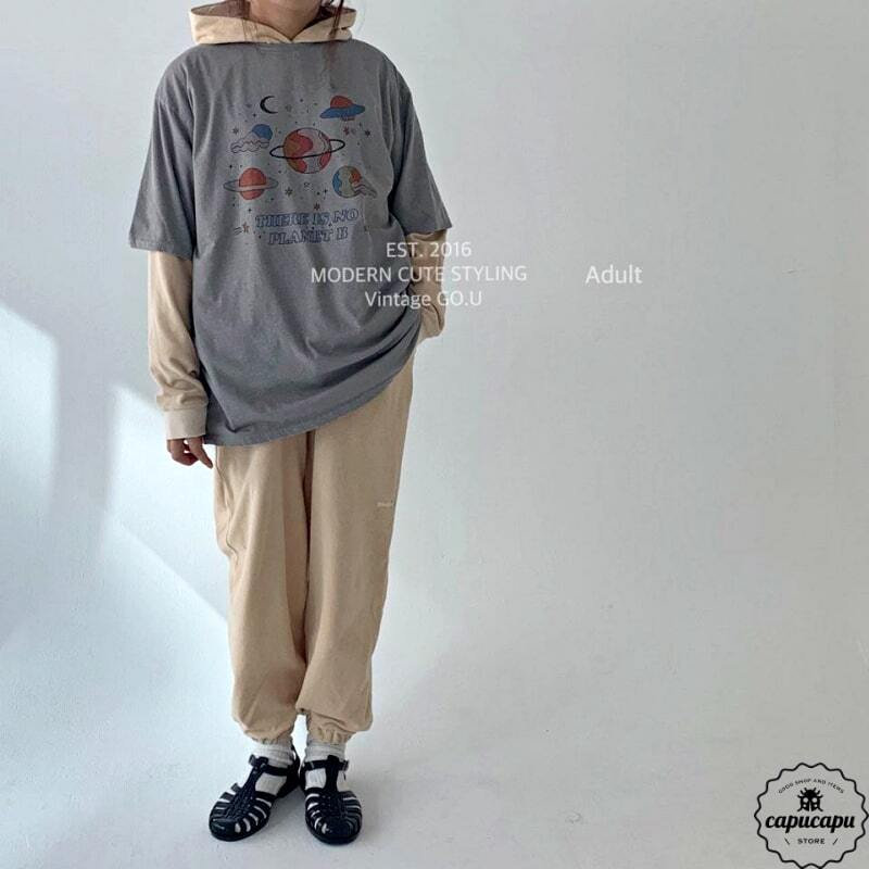 «sold out»«mom»«Jr size» go.u planet tops 惑星カットソー ママサイズ ジュニアサイズ