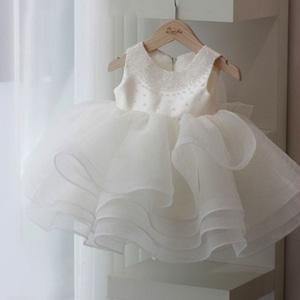 子供ドレス キッズドレス パール ベビードレス  女の子ドレス キッズフォーマルドレス ワンピース セレモニードレス 七五三 80cm-160cm 8330
