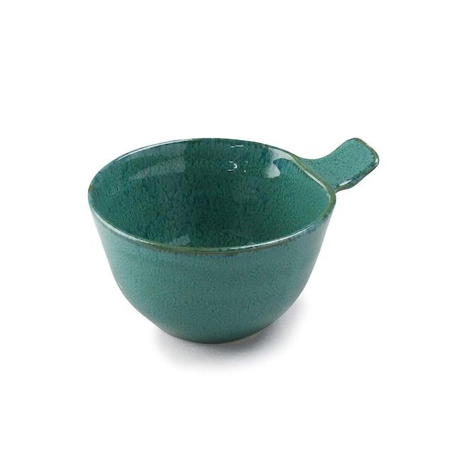 aito製作所 「ナチュラルカラー Natural Color」取っ手付きカップ ボウル 皿 高さ7.3cm グリーン 美濃焼 517053