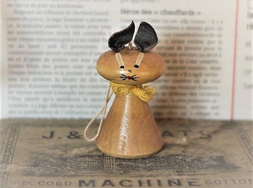 北欧 木製 ネコ人形