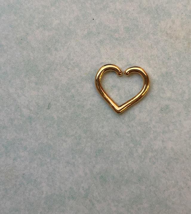 HEART Tragus body jewelry 18G/K18YG, K18PG, Pt  #LJ18054P ハート トラガス ボディピアス 18G