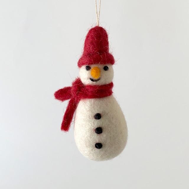 Snowman w/ Scarf - Red|赤いマフラーの雪だるま オーナメント