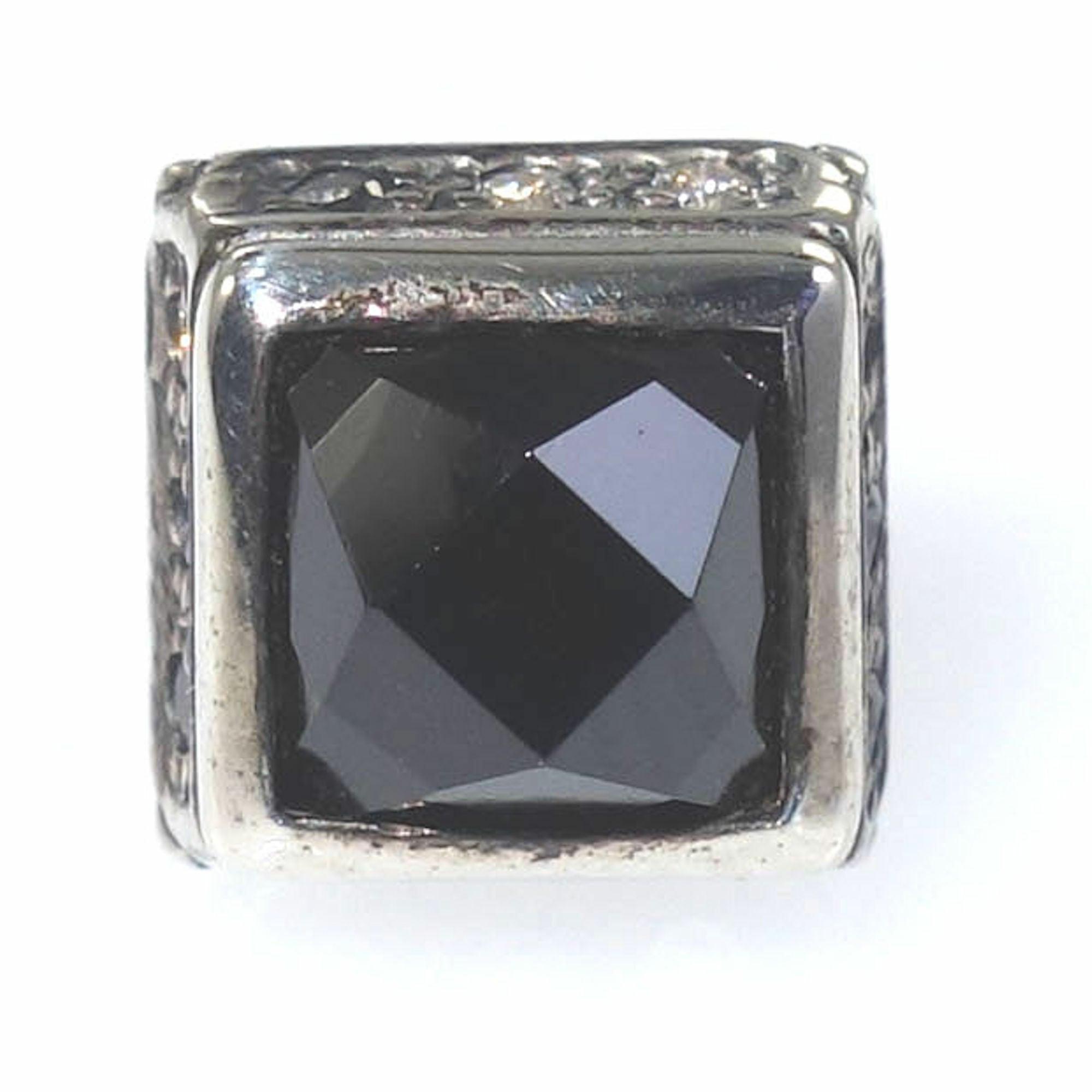 スクエアオニキススタッドピアス ACSE0020BK Square onyx stud earrings