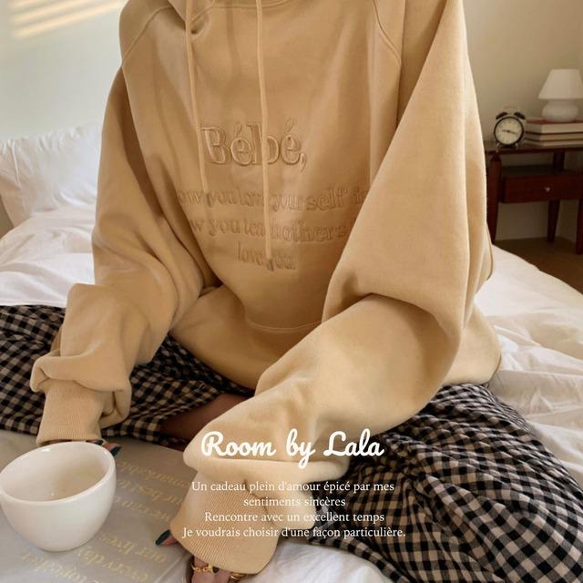 【即納】Embroidered hoodie / トップス / LE202269