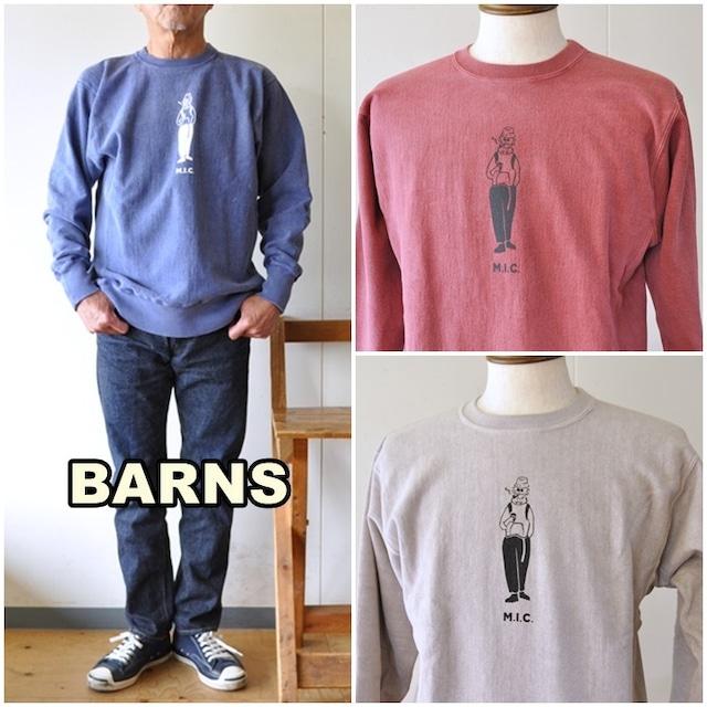 バーンズ アウトフィッターズ  BARNS OUTFITTERS  BARNS バーンズ ビンテージスウェット トレーナー 21331