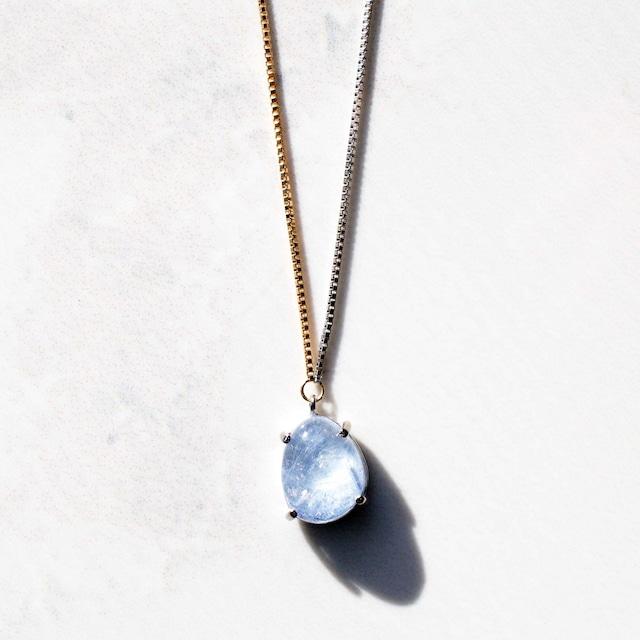 Dumortierite in Quartz  Long Necklace(N173-DU)