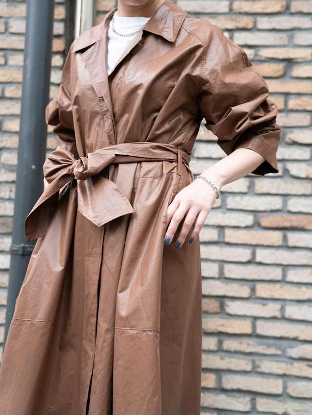【WOMENS - 1 size】COATING TRENCH COAT / 2color