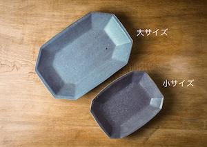 グレー釉 八角深鉢 大(信楽焼・深鉢・オーバルボウル)/古谷 浩一