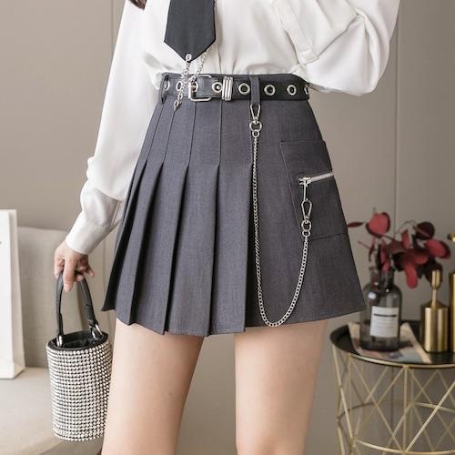 2色/プリーツチェーンスカート ・15105