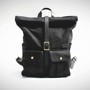 Astray Rolltop Backpack [Black / Black]