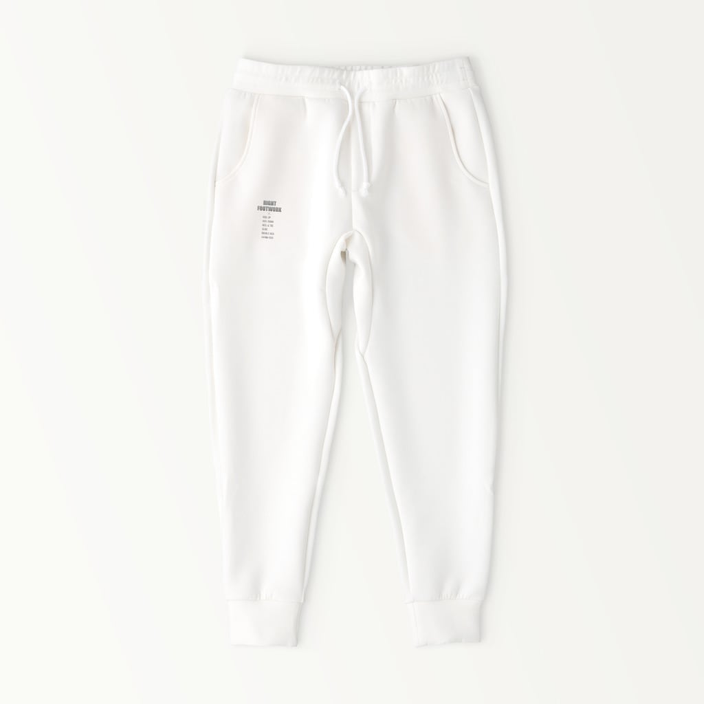 RIGHT FOOTWORK JOGGER PANTS (WHITE)