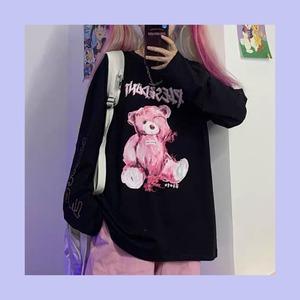 【お取り寄せ】ネオンくまちゃん ロングTシャツ 2色