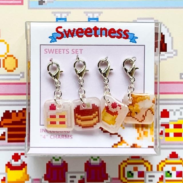 プラバン ケーキ ドット絵 Sweetness チャーム 4点セット