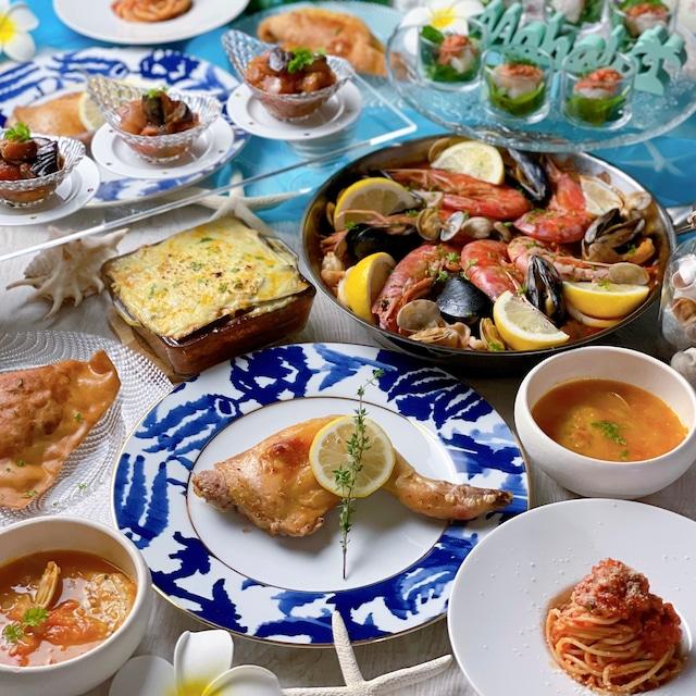 2021.08 地中海料理レッスン全8品 献立まとめ
