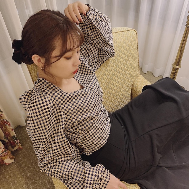 【予約】puff chidori blouse