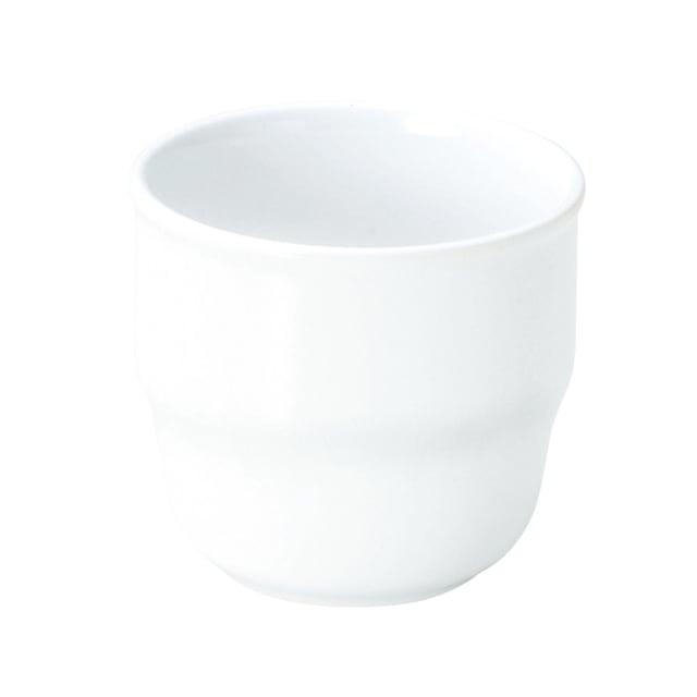 強化磁器 持ちやすいカップ(φ7.7cm×H7.1cm/満水220ml) 白無地【1904-0000】