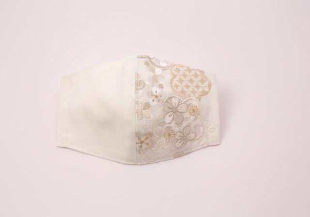 【着物マスク】チャーム付き・刺繍マスク- KOTOHOGI(m03901)