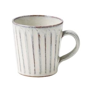 信楽焼 へちもん マグ カップ 約330ml 白釉彫 MR-3-3333