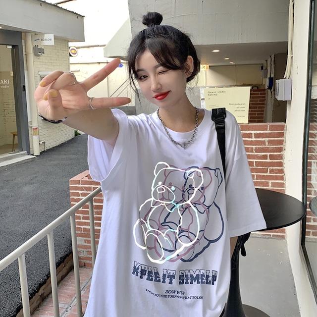 【トップス】カジュアルプリントカートゥーンTシャツ47232627