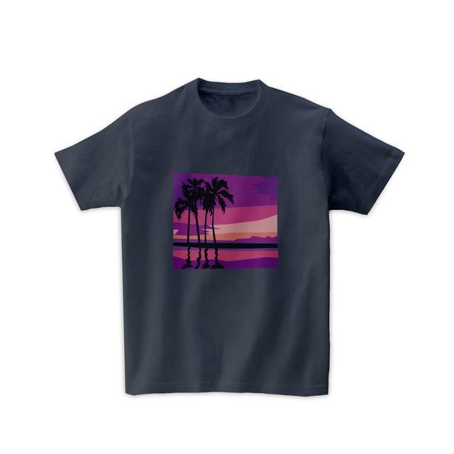 景色Tシャツ-ハワイピンクサンセット