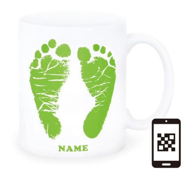 ai mug-white   A-type (LIGHT GREEN) QRコード付き