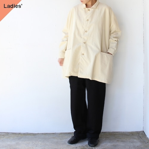 SETTO コーデュロイマーケットシャツ MARKET SHIRT (IVORY)