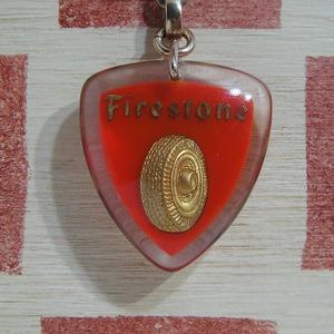 アメリカ Firestons[ファイアストン]タイヤメーカー広告 ブルボンキーホルダー(レッド)