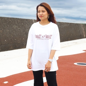 Will×Will logo Loose T-shirts White